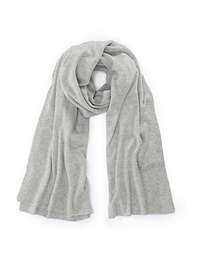 a28e79caeba27 include - L'écharpe 100% cachemire - gris clair chiné
