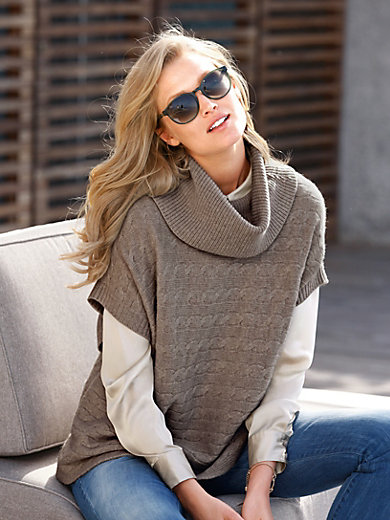 include - Le pull poncho 100% cachemire
