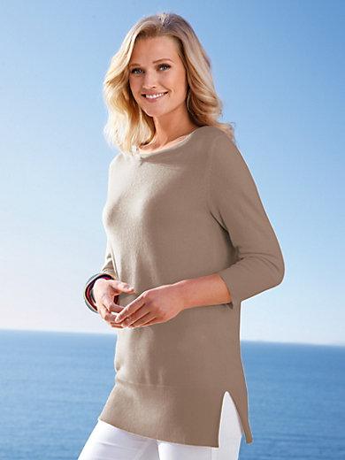 include - Long-Pullover aus 100% PREMIUM Kaschmir