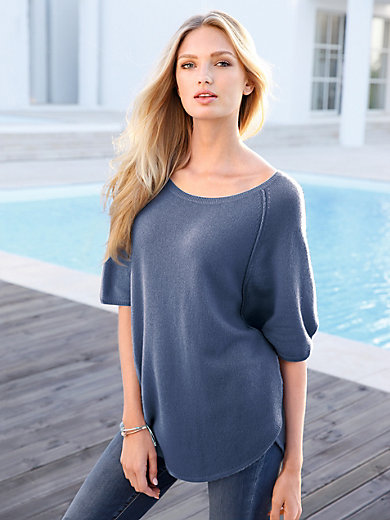 include - Poncho style jumper in 100% cashmere