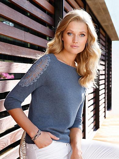 include - Pullover mit 3/4-Arm aus 100% Kaschmir