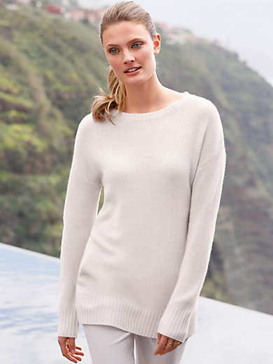 include - Round neck jumper in 100% cashmere