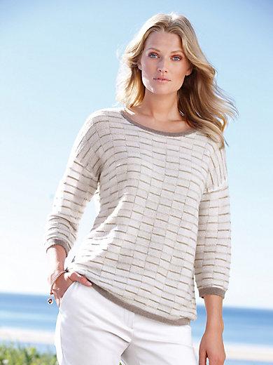 include - Rundhals-Pullover aus 100% Kaschmir mit 3/4-Arm