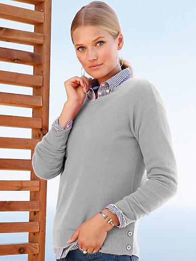 include - Rundhalsad tröja med lång ärm i 100% kashmir i Pre