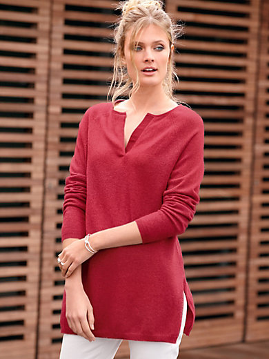 include - Stickad tunika i 100% kashmir i Premium-kvalitet