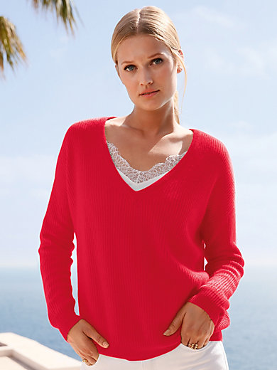 include - V-neck jumper in Pure cashmere in premium quality