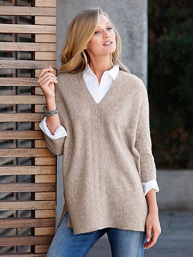include - V-ringad tröja i ren kashmir