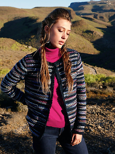 Inkadoro - La veste rayée en maille, fibres naturelles