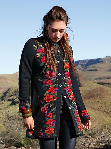Inkadoro - Le manteau long en pur alpaga avec broderies