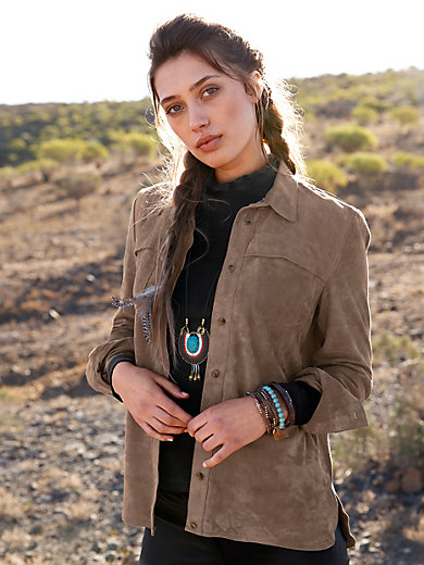 Inkadoro - Leren blouse