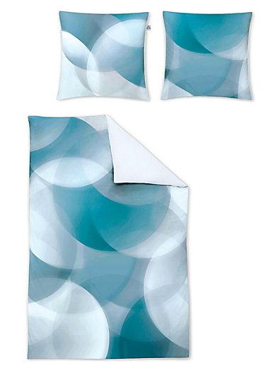 Irisette - Bettwäsche-Garnitur aus Mako-Satin, ca. 135x200cm