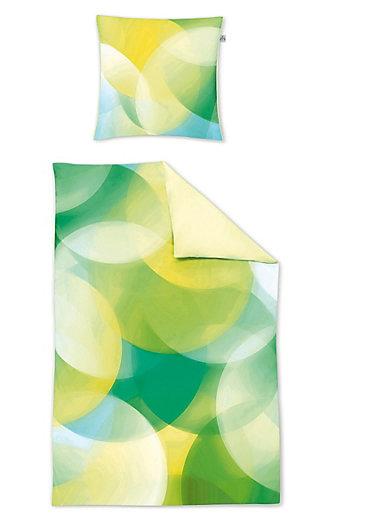 Irisette - Bettwäsche-Garnitur aus Mako-Satin, ca. 155x220cm