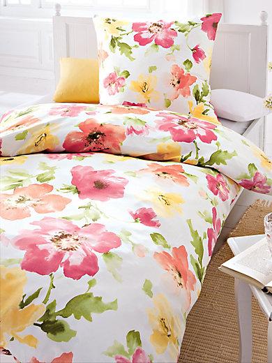 irisette bettw sche garnitur ca 155x220cm flamingo multicolor. Black Bedroom Furniture Sets. Home Design Ideas