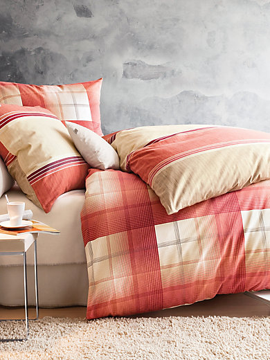 irisette bettw sche garnitur ca 155x220cm rot. Black Bedroom Furniture Sets. Home Design Ideas