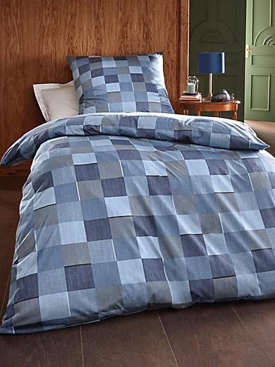 janine bettbezug ca 135x200cm kissenbezug ca 80x80cm blau. Black Bedroom Furniture Sets. Home Design Ideas