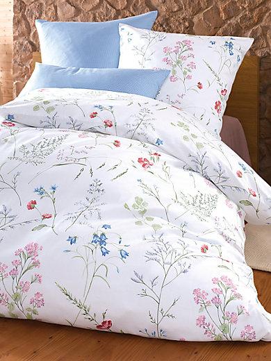 janine bettw sche garnitur aus mako satin ca 155x200cm multicolor. Black Bedroom Furniture Sets. Home Design Ideas