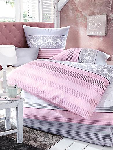 janine bettw sche garnitur ca 155x200cm ros silber. Black Bedroom Furniture Sets. Home Design Ideas