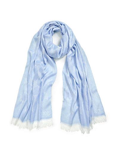 Joop! - Schal mit elegantem Kornblumen-Jacquard