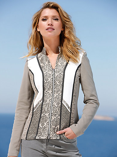 Just White - Blouse jacket with raised collar