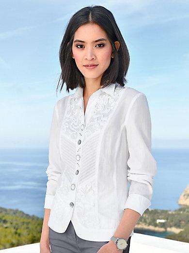 Just White - Bluse aus 100& Baumwolle