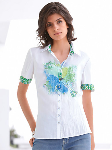 Just White - Bluse mit 1/2-Arm