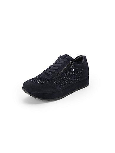 Kennel & Schmenger - Les sneakers en cuir velours, zip et lacets