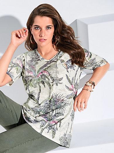 KjBrand - V-Shirt mit Ausbrenner-Effekt