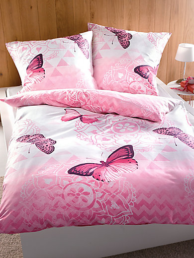 kleine wolke bettw sche garnitur ca 135x200cm rosa. Black Bedroom Furniture Sets. Home Design Ideas