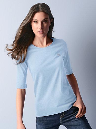 Lacoste - Bluse med rund hals og halvlange ærmer