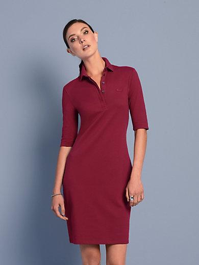 Lacoste - La robe-polo à manches courtes en maille piquée
