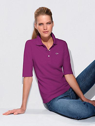 f183c7c132 Lacoste - Le polo manches aux coudes en maille piquée - violet