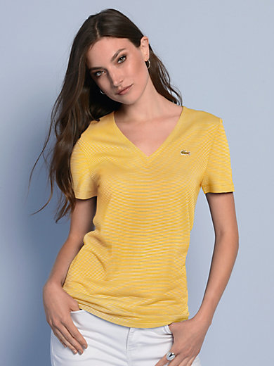 Lacoste - Le T-shirt rayé, décolleté V