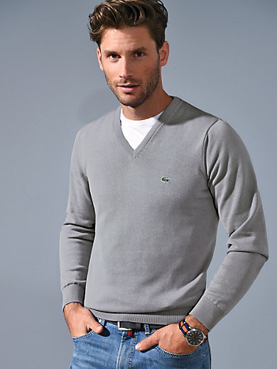 Lacoste - V-Pullover aus 100% Baumwolle