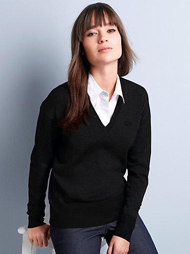 Lacoste - V-Pullover mit überschnittener Schulter