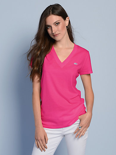 Lacoste - V-Shirt mit 1/4 Arm