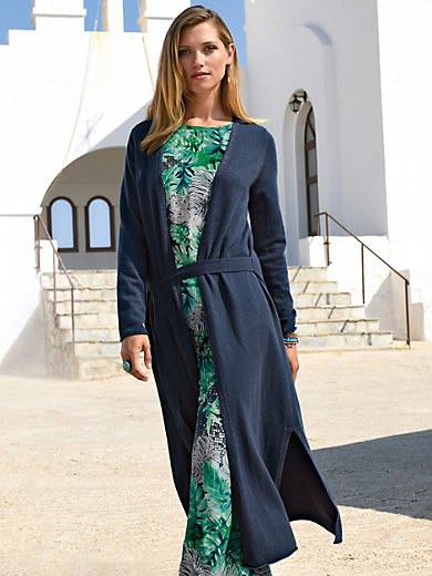Laura Biagiotti Donna - Kniited coat in cashmere with Lurex