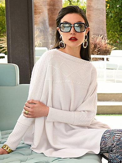 Laura Biagiotti Donna - Poncho style jumper in 100% cashmere