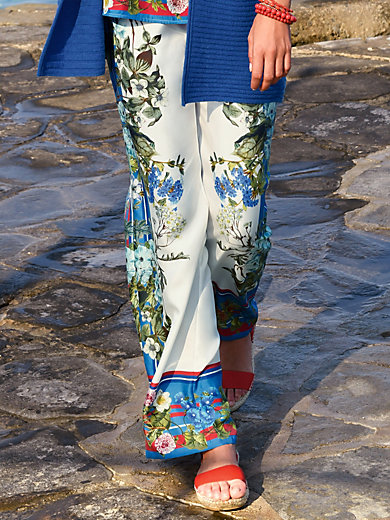 Laura Biagiotti Donna - Pull-on trousers in 100% silk