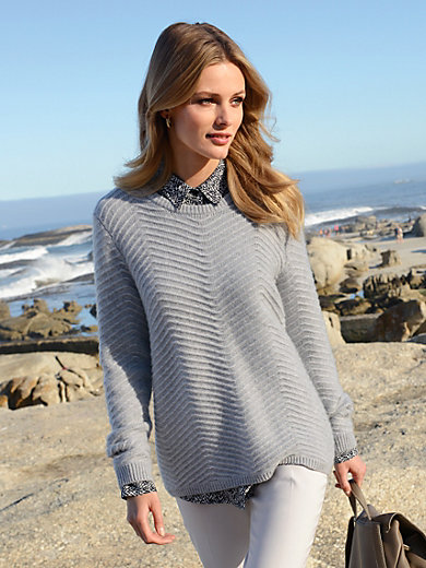 Laura Biagiotti Donna - Round neck jumper in 100% cashmere