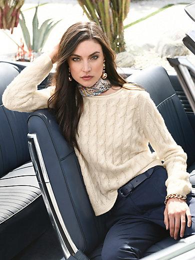 Laura Biagiotti Donna - Round neck jumper in cashmere and silk