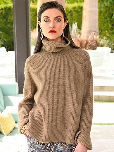 Laura Biagiotti Donna - Rullekravebluse 100% kashmir