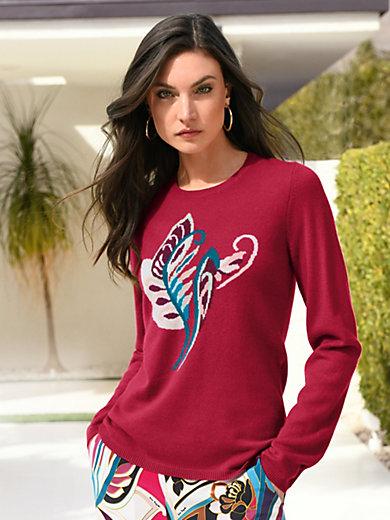 Laura Biagiotti Donna - Rundhalsad tröja i 100% kashmir i Premium-kvalitet