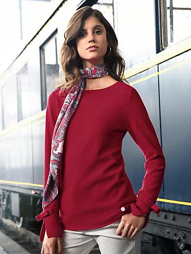 Laura Biagiotti Donna - Strikbluse 100% kashmir i Premiumvalitet