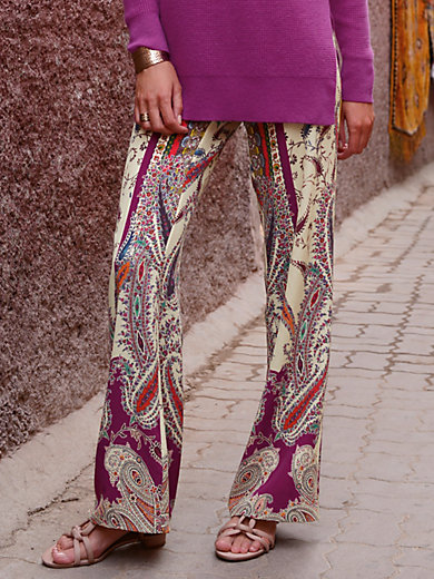 Trousers in 100% silk Laura Biagiotti Donna multicoloured Laura Biagiotti Donna mdLWZfDVo
