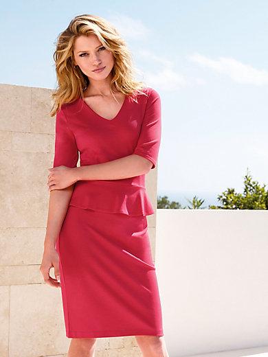 Laurèl - La robe en jersey, manches 3/4 et col V