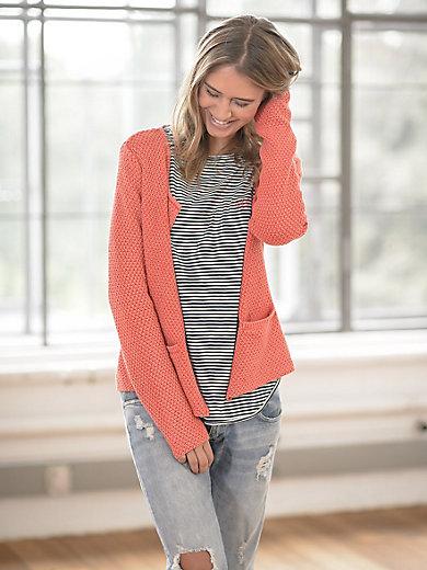 LIEBLINGSSTÜCK - Baumwoll-Cardigan aus Waffel-Strick