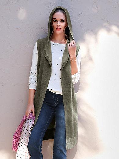 LIEBLINGSSTÜCK - Knitted gilet in 100% new milled wool