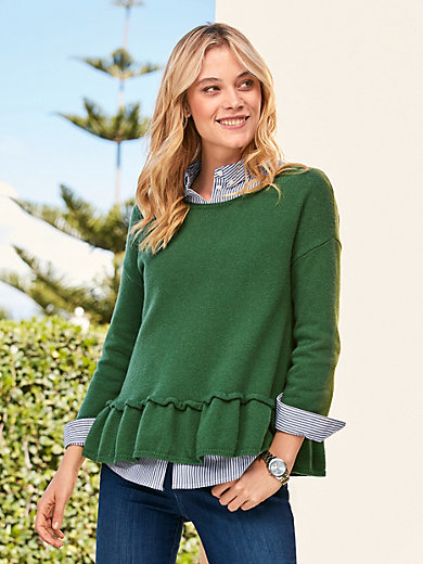 LIEBLINGSSTÜCK - Round neck jumper with 3./4-length sleeves
