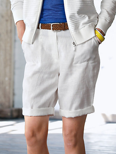 Looxent - Bermuda shorts made of 100% linen