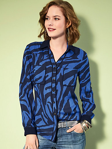 Looxent - Blouse with fold-up sleeves
